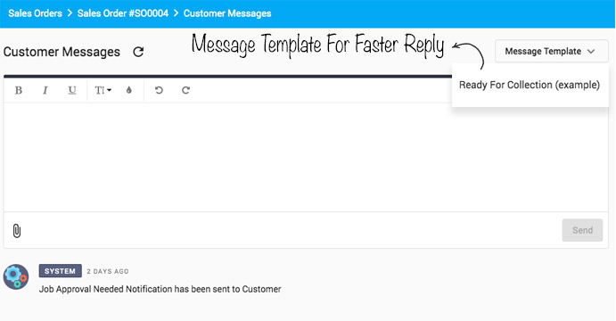 Customer Message-Template