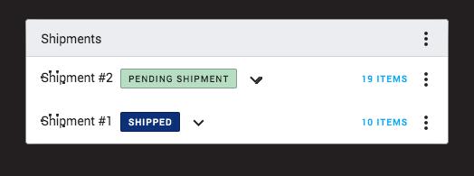Multiple Shipment