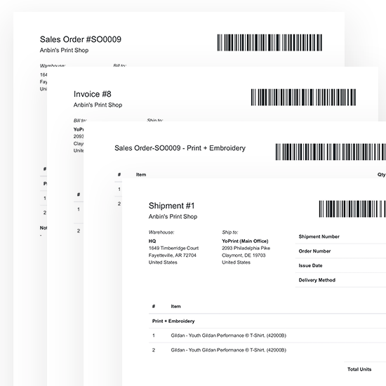 YoPrint | Barcode Tracking