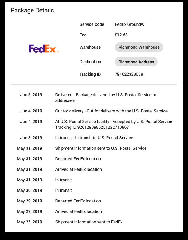 YoPrint FedEx Package Tracking v1.0