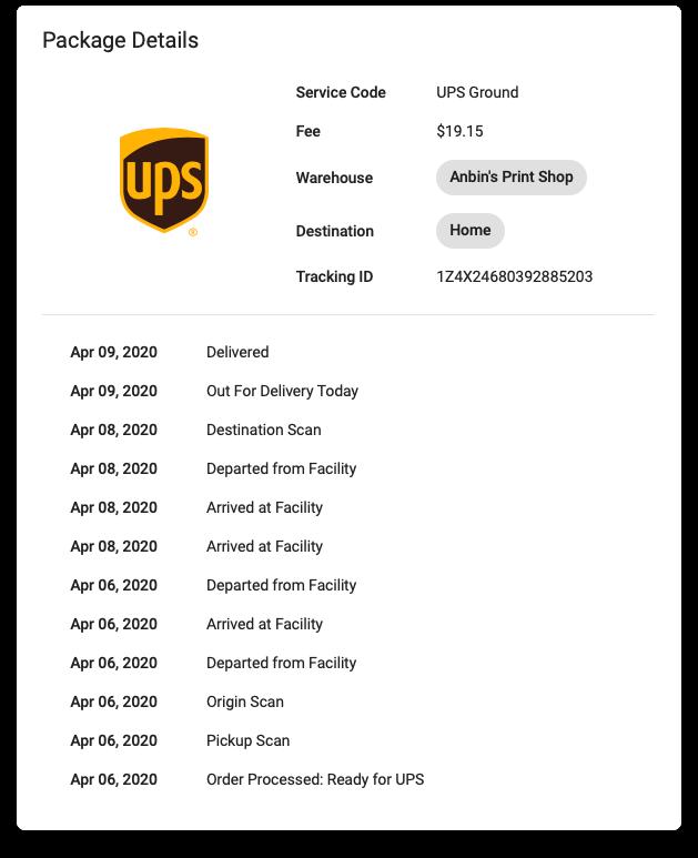 YoPrint UPS Package Tracking v1.0