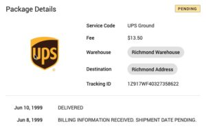 ups label tracking