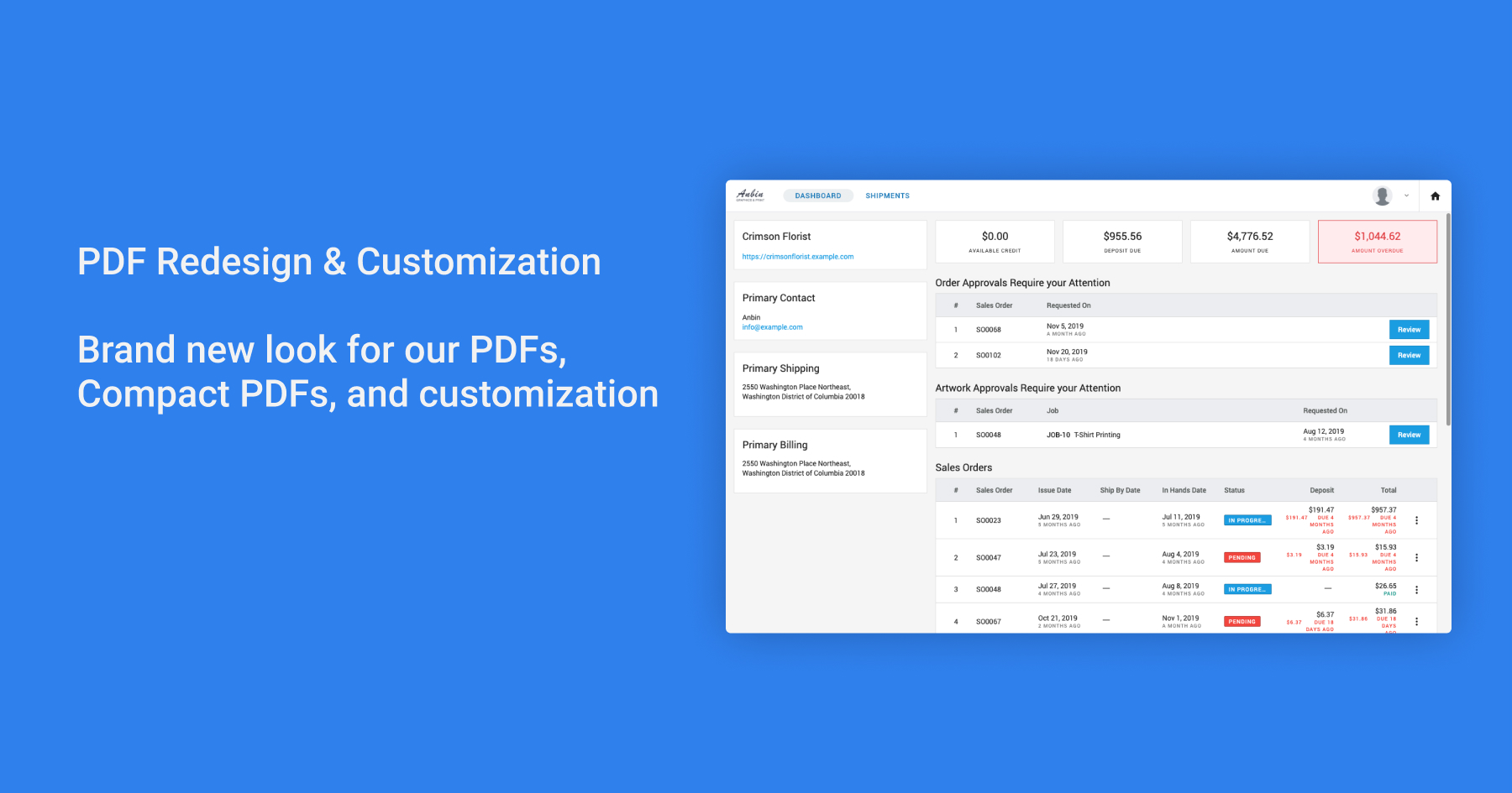 PDF Redesign Customization