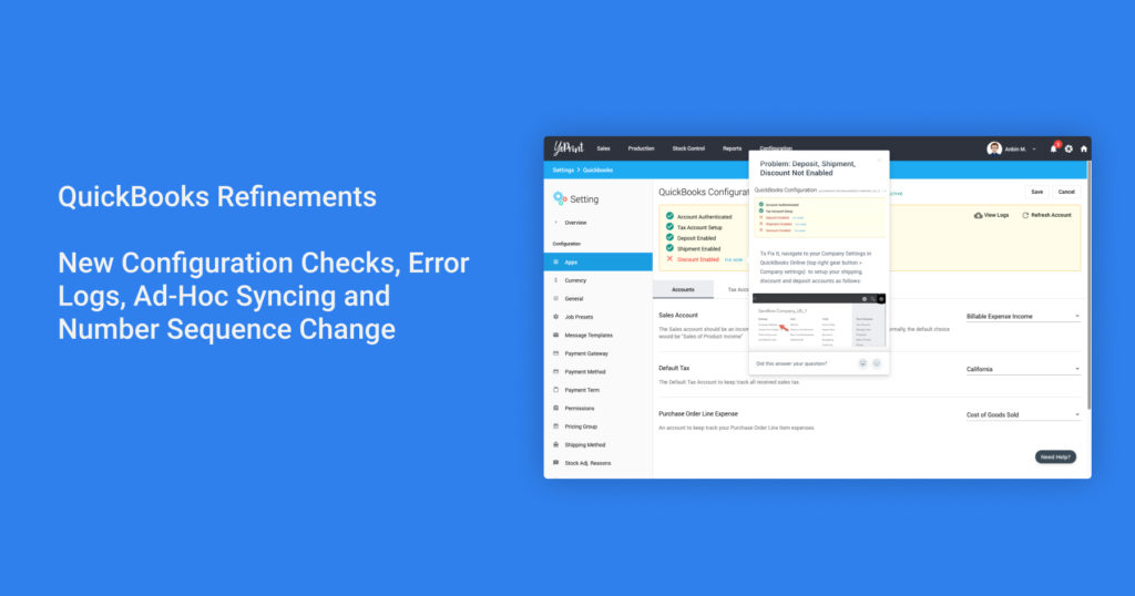 QuickBooks Refinements