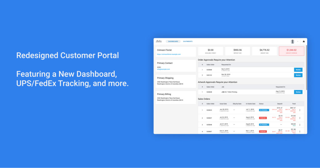 Redesigned Customer Portal 1