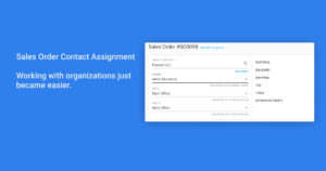 Sales Order Contact Assignment