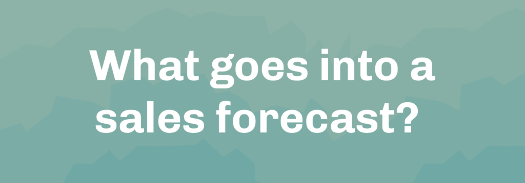What goes into a sales forecast?