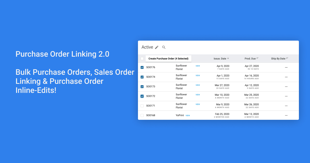 Purchase Order Linking 2.0