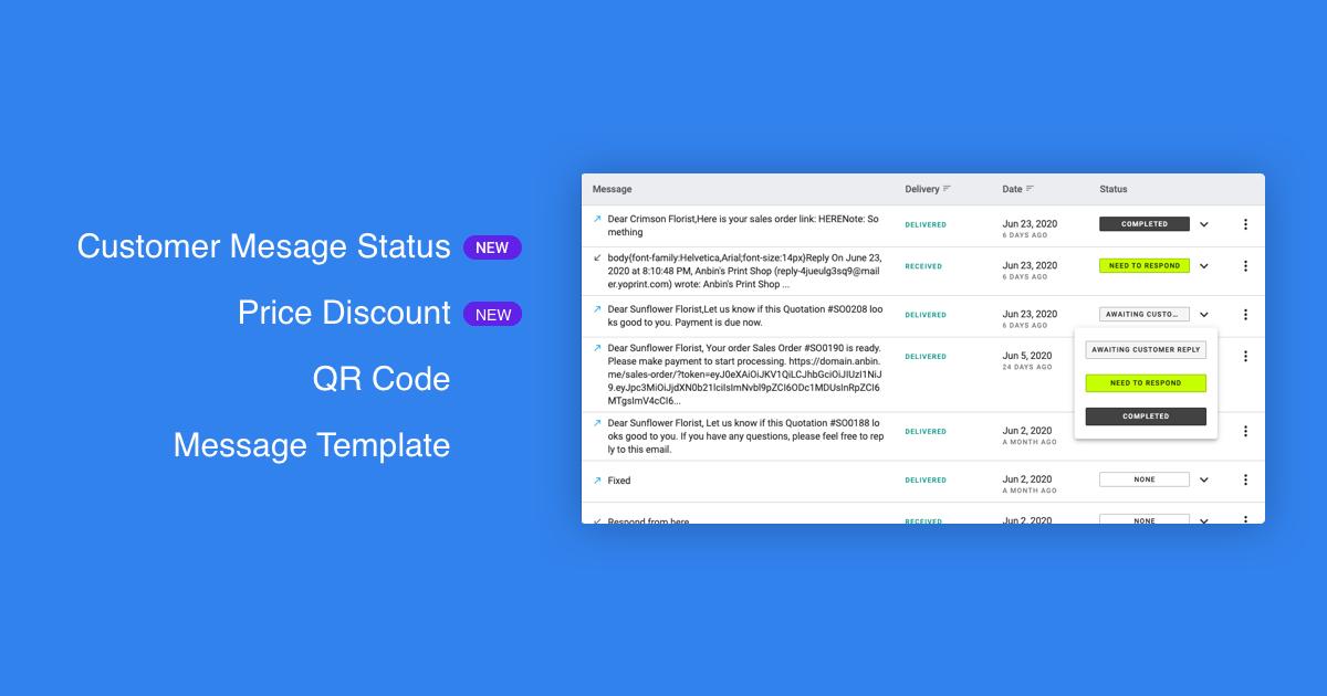 YoPrint Customer Message Status v1.0