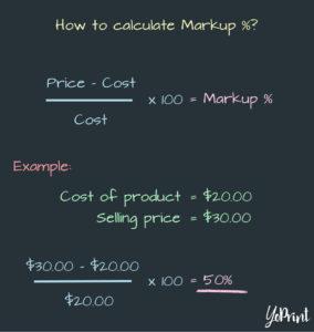 YoPrint Markup Percentage Formula v1.1
