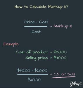 YoPrint Markup Percentage Formula v1.3