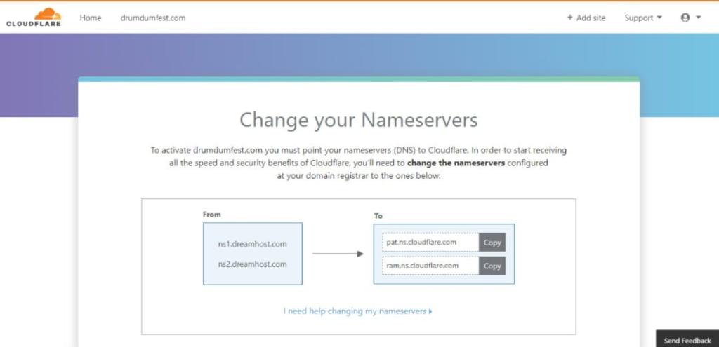 YoPrint Cloudflare Nameserver
