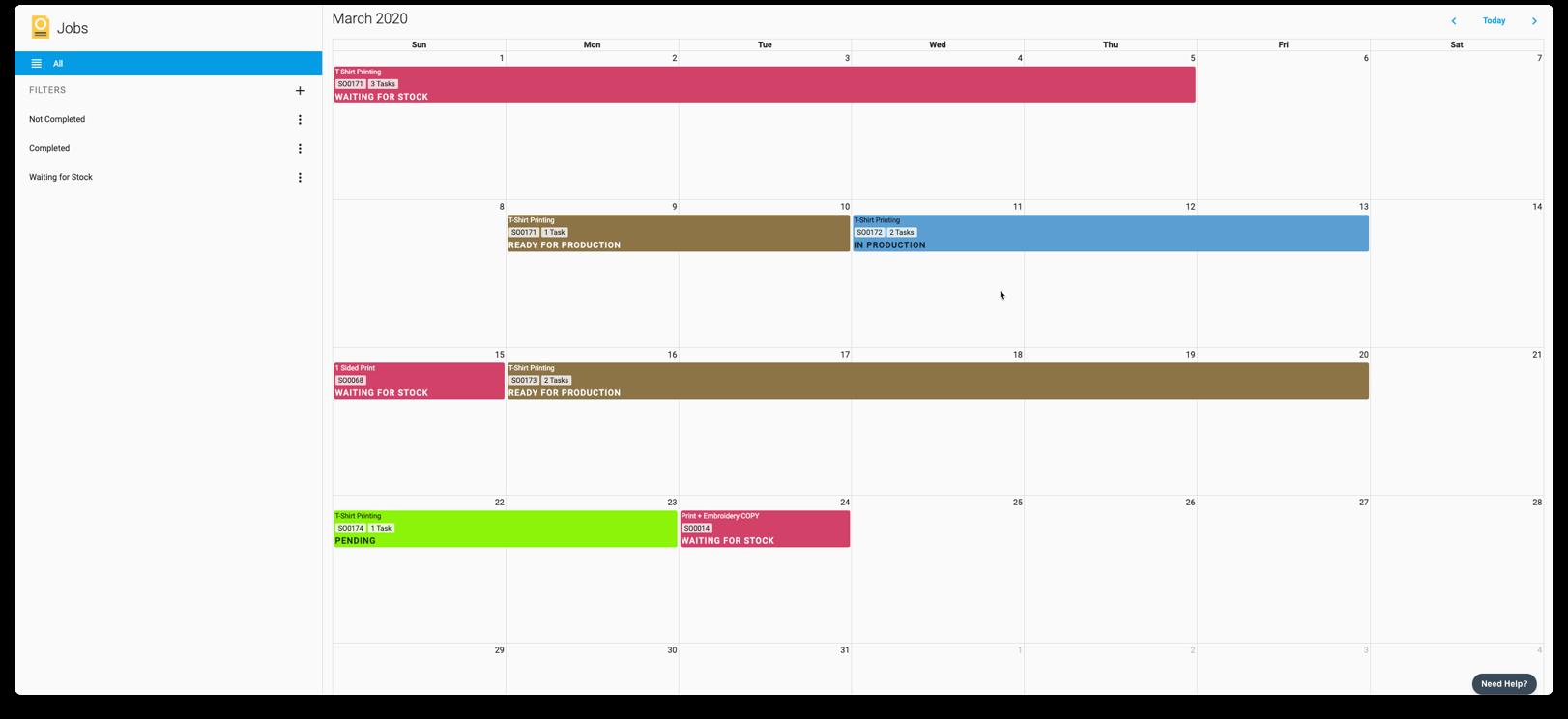 YoPrint Production Management Calendar v1.1 Copy