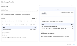 YoPrint Message Template v1.1