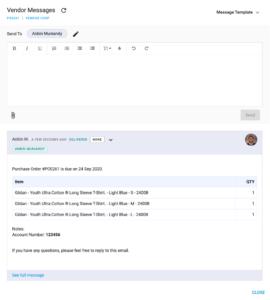 YoPrint Purchase Order Email System v1.1