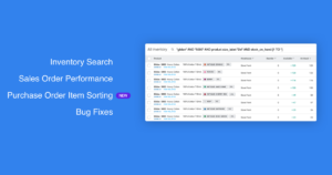 YoPrint Inventory Search Performance Improvements Purchase Order Item Sorting and Bug Fixes